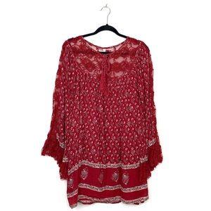 Free People Nomad Child Boho Peasant Dress Lace